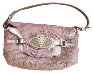 Valentino Lamb Leather Baguette