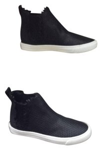 Loeffler Randall Sneaker Woven Leather black Athletic