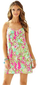 Lilly Pulitzer short dress Flamingo Pink Southern Charm Silk on Tradesy