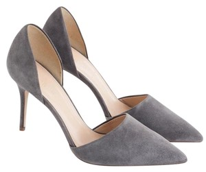 J.Crew Italian Suede Leather Heron Gray Formal