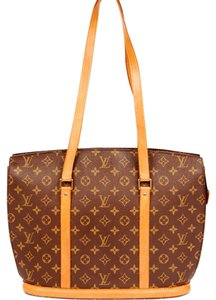 Louis Vuitton Monogram Babylone Leather Canvas Tote in Brown