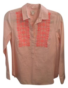 J.Crew Striped Button Down Shirt Pink