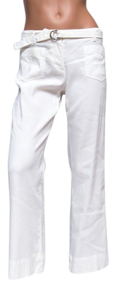 564fa694743fe Theory Ivory Winter White Linen Blend Pants. Size  2 (XS ...