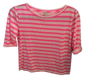 J.Crew Striped Three Quarter Sleeve Sweater