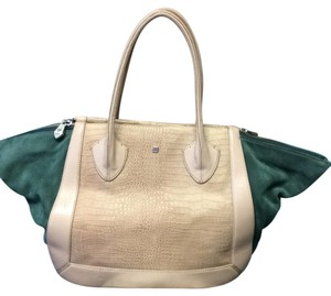 Pour La Victoire Satchel in Tan And Green
