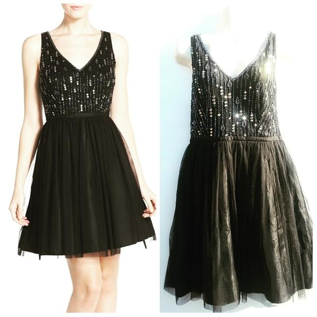 Preload https://img-static.tradesy.com/item/19746464/adrianna-papell-black-beaded-collection-mid-length-formal-dress-size-6-s-0-0-650-650.jpg