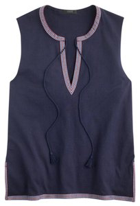 J.Crew Embroidered Top Navy Blue