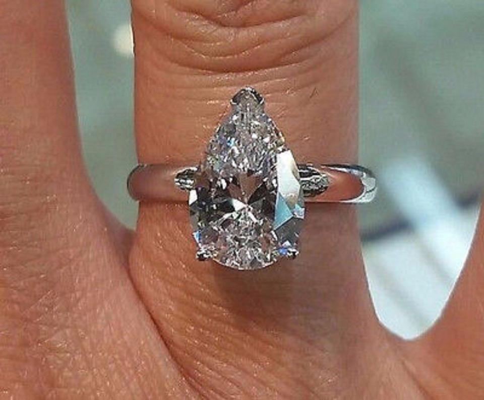 promise stone three made rings diamonds kymhbvn man fashionable wedding grown engagement lab created diamond