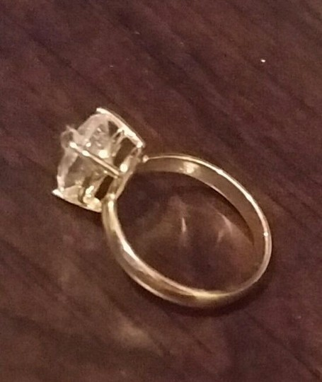 White Gold 14k 3 Ct Solitaire Pear Size 7 Engagement Ring Image 1