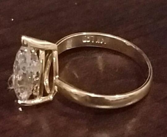 White Gold 14k 3 Ct Solitaire Pear Size 7 Engagement Ring Image 3