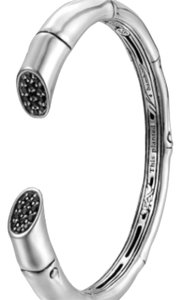 John Hardy John Hardy Sterling Silver and Black Sapphire Kick Cuff Medium