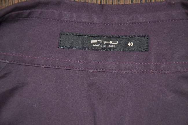 Etro Fitted Button Up Button Down Shirt Burgundy Image 5