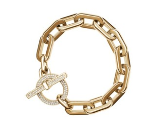 Michael Kors MICHAEL KORS MKJ4586 CHAIN LINK PAVE TOGGLE BRACELET GOLD BAG