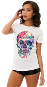 Your Eyes Lie Tee Skull Day Of The Dead T Shirt White