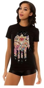 Your Eyes Lie Hamsa Hand T Shirt White