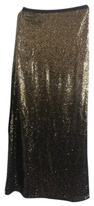 Skies Are Blue Maxi Skirt Sparkling Gold Beaded