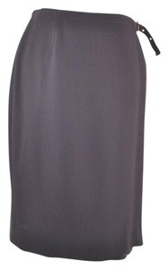 Calvin Klein Wrap Wool Size 12 Skirt Brown