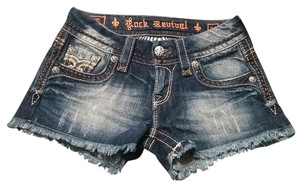 Rock Revival Denim Camo Accents Size 24 Shorts