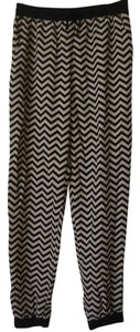 Rue 21 Baggy Pants Black and Beige Chevron