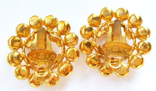 Chanel Authentic Vintage Chanel 18k Gold Plated Super Shiny CC Gold Clip on Earrings