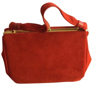 Unique Vintage Satchel in red