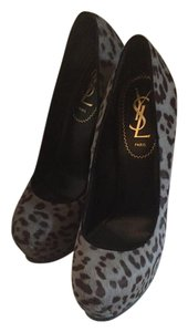 Saint Laurent leopard black/gray Pumps