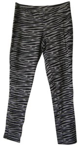 Faded Glory Gray and Black Zebra Print - Girls Size XL (14-16) Leggings