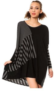 short dress Black Gray Bamboo Tunic on Tradesy