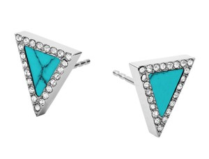 Michael Kors MICHAEL KORS MKJ4253 SEMI PRECIOUS TURQUOISE TRIANGLE STUD EARRINGS