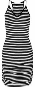 Kain Label short dress Black/ off white Strappy Striped Stretchy on Tradesy