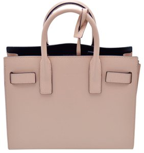 Saint Laurent Leather Pink Tote in pale blush