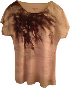 Other Asymmetric Earth Tones Top Brown Tan