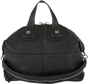 Givenchy Nightingale Grained Leather Satchel in Black