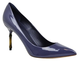 Gucci Patent Leather Blue Pumps