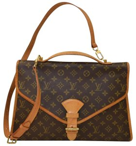 Louis Vuitton Beverly 2 Way Beverly Brown Travel Bag