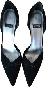 Stuart Weitzman Evening Lace Sparkle Black Formal