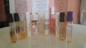 Chanel Lot of 11 Perfume Samples Spray Cologne Fragrance