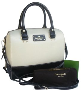 Kate Spade Satchel in Black & Cream