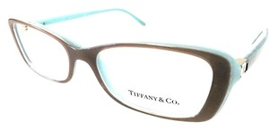 Tiffany & Co. Tiffany & Co Eyeglasses Brown Teal New Authentic 53mm