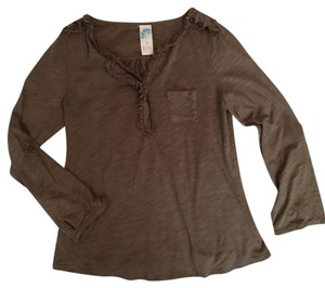 Anthropologie Top Olive green