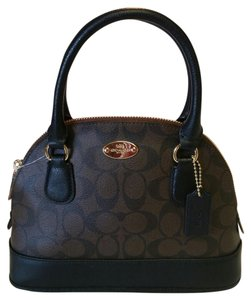 Coach Monogram Satchel in BROWN