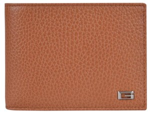 Gucci Gucci Men's 150403 Saffron Tan Leather G Logo Bifold Wallet