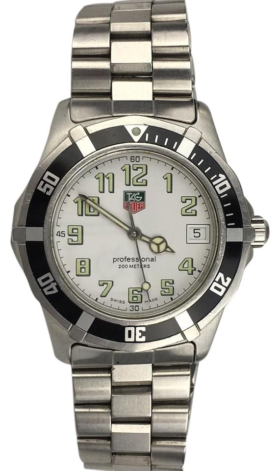 TAG Heuer Silver Stainless Steel Professional White Face ...