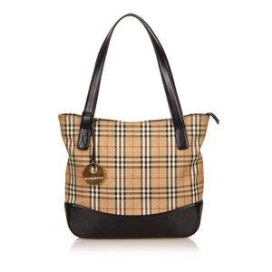 Burberry Beige Black Brown Shoulder Bag