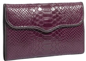Rebecca Minkoff Leather Wallet Purple Clutch