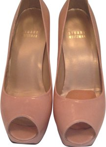 Stuart Weitzman Patent Leather Nude Pumps