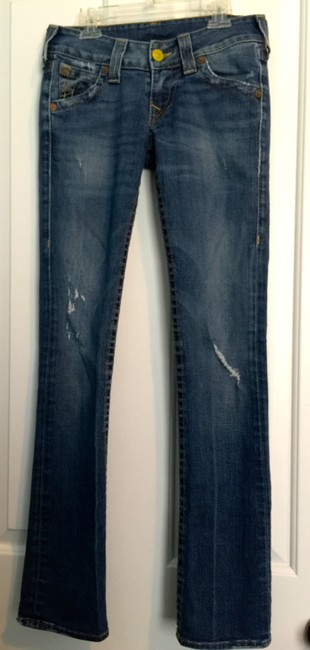 True Religion Distressed Tr Straight Leg Jeans-Distressed