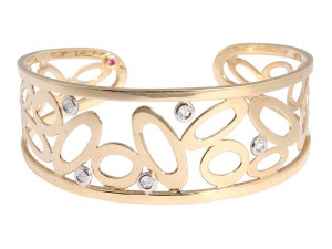 Roberto Coin 18K Yellow Gold Chic & Shine Cuff Bracelet