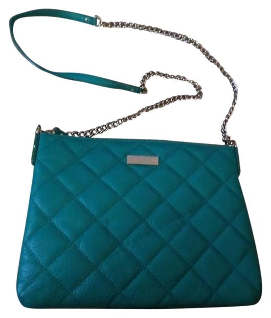 Kate Spade Ginnie Quilted Teal Green Leather Shoulder Bag Kate Spade Ginnie Quilted Teal Green Leather Shoulder Bag Image 1
