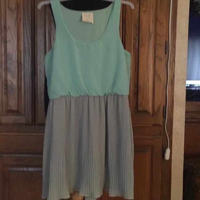 Pins and Needles short dress Light Blue on top and light grey on Tradesy
